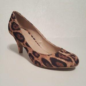 Olsenboye Leopard Print Heels